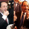 François Hollande en 2007 (à gauche) et en 2012 (à droite).