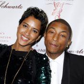 Pharrell Williams et Helen Lasichanh : Rayonnants époux devant Hugh Jackman
