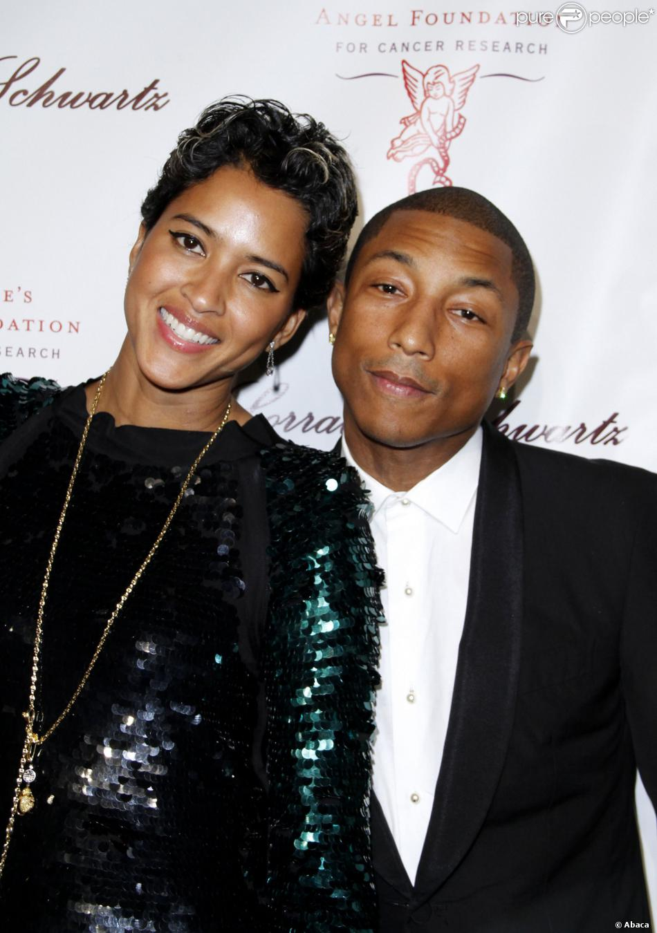 Pharrell Williams Et Helen Lasichanh Rayonnants 233 Poux