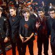 """Le groupe One Direction présente son film """"This Is US"""" à Chiba, au Japon, le 3 novembre 2013."""