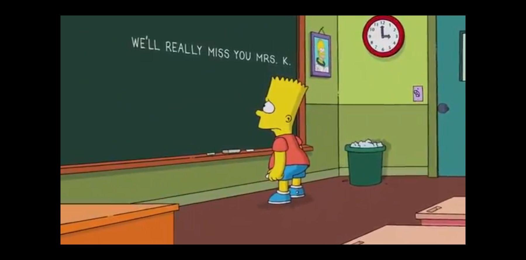 Les Simpson L Hommage De Bart Après La Mort De Marcia