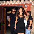Andrea Bocelli et sa fiancée Veronica à Porto Cervo, le 8 août 2013.