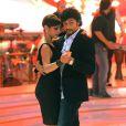 """L'ex de Madonna Jesus Luz et sa partenaire Elena Conigliodans le """"Danse avec les stars"""" italien à Rome le 2 novembre 2013."""