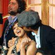 """Jesus Luz et sa partenaire Elena Conigliodans le """"Danse avec les stars"""" italien à Rome le 2 novembre 2013."""