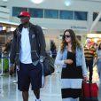 Lamar Odom et Khloe Kardashian à l'aéroport JFK de New York, le 19 juin 2012.