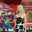 La superbe Gwyneth Paltrow inaugure les vitrines de Noël du Printemps Haussmann décorées cette année en partenariat avec la maison Prada. Paris, le 07 novembre 2013.