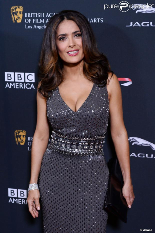 Salma Hayek lors des BAFTA LA Britannia Awards au Beverly Hilton Hotel à Beverly Hills, Los Angeles, le 9 novembre 2013