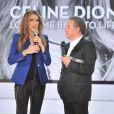 Céline Dion sur le plateau de Vivement Dimanche, présenté par Michel Drucker, le 13 novembre 2013 à Paris.