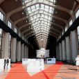 Prise de vue de La Cité du cinéma d'EuropaCorp, la société de Luc Besson, le 21 septembre 2012