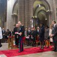 Le prince Albert II, la princesse Charlene, la princesse Caroline de Hanovre et la princesse Stéphanie de Monaco lors de la célébration de la Messe d'action de grâce et du Te Deum à la Cathédrale de Monaco à l'occasion de la fête nationale, le 19 novembre 2013