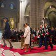 La princesse Charlene, la princesse Caroline de Hanovre et la princesse Stéphanie de Monaco lors de la célébration de la Messe d'action de grâce et du Te Deum à la Cathédrale de Monaco à l'occasion de la fête nationale, le 19 novembre 2013