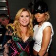 (L-R) Kelly Clarkson and Ciara backstage at 'Vh1 Divas' 2012 at the Shrine Auditorium in Los Angeles, CA, USA on December 16, 2012. Photo by Frank Micelotta/PictureGroup/ABACAPRESS.COM17/12/2012 - Los Angeles