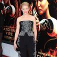 """Elizabeth Banks lors de l'avant-première du film """"Hunger Games : L'Embrasement"""" à New York, le 20 novembre 2013"""