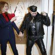 Natalia Vodianova, enceinte et Peter Marino complices à la réouverture de la boutique Guerlain et du restaurant Le 68 sur les Champs-Elysées à Paris. Le 21 novembre 2013