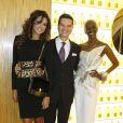 Ivian Lunasol Sarcos, Thierry Wasser (le nez de Guerlain) et Princesse Esther Kamatari du Burundi à la réouverture de la boutique Guerlain et du restaurant Le 68 sur les Champs-Elysées à Paris. Le 21 novembre 2013