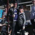 Exclusif - Justin Therouxproche et câlin avec une mystérieuse blonde inconnue lors de l'anniversaire de Susan Downey à San Francisco, le 10 novembre 2013.