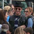 Exclusif - Justin Theroux et Sasha Alexander lors de l'anniversaire de Susan Downey à San Francisco, le 10 novembre 2013.