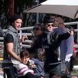 Exclusif - Justin Theroux et Gavin Rossdale lors de l'anniversaire de Susan Downey à San Francisco, le 10 novembre 2013.