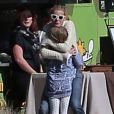 Exclusif - Gwyneth Paltrow et sa fille Apple lors de l'anniversaire de Susan Downey à San Francisco, le 10 novembre 2013.