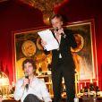 Alex Lutz et Bruno Sanches à la remise des Prix Fooding 2014 au Cirque d'Hiver à Paris, le 25 novembre 213.