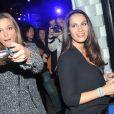 Sandrine Quetier et Elisa Tovati ont participé à la soirée de lancement de la console Playstation 4 Sony au centre culturel alternatif Electric à Paris le 28 novembre