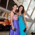 Sarah Barzyk Aubrey et Aida Touihri lors du 13e Festival international du film de Marrakech, le 30 novembre 2013.