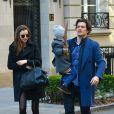 Miranda Kerr et Orlando Bloom réunis pour leur fils Flynn à New York, le 30 novembre 2013.