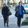 Miranda Kerr et Orlando Bloom ensemble avec leur fils Flynn à New York, le 30 novembre 2013.