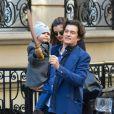Miranda Kerr et Orlando Bloom avec leur fils Flynn à New York, le 30 novembre 2013.