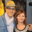Marc Fichel et Annabelle Milot à l'inauguration du premier concept store Reebok avenue de l'Opéra à Paris, le 4 décembre 2013.