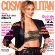 Couverture du numéro de Cosmopolitan avec l'actrice Nora Arnezeder, où figure l'interview de Dorothée Gilbert