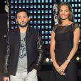 Cyril Hanouna et Karine Le Marchand lors de la soirée spéciale Téléthon sur France 2, le samedi 7 décembre 2013.