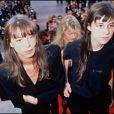Kate Barry et Charlotte Gainsbourg au Festival de Cannes, mai 1990.