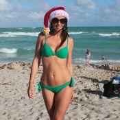 Claudia Romani : Mère Noël sexy en bikini, avant son réveillon