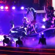 Britney Spears sur la scène de l'Axis Theater, au Planet Hollywood de Las Vegas, pour son concert Piece of me, le vendredi 27 décembre 2013.