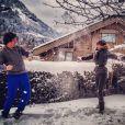 Jean Imbert et Alexandra Rosenfeld : Amoureux et beaux en montagne pour l'anniversaire d'Alexandra le 23 novembre 2013