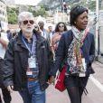 George Lucas et sa femme Mellody Hobson lors du Grand Prix de Monaco le 25 mai 2013