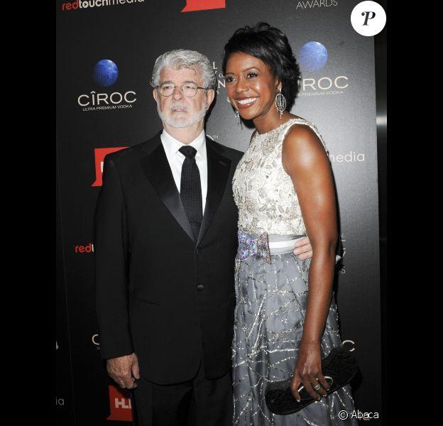 George Lucas et sa femme Mellody Hobson le 16 juin 2013 à Los Angeles