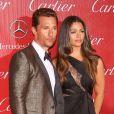 Matthew McConaughey et sa femme Camila Alvesassistent à la soirée de remise de prix du 25e Festival International du film de Palm Springs. Le 4 janvier 2014.