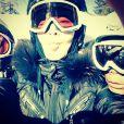 Madonna au ski avec ses enfants, le 7 janvier 2014.