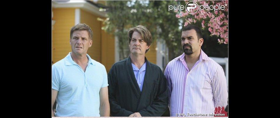 Doug Savant, Kyle MacLachlan et Ricardo Chavira dans Desperate Housewives.