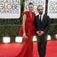 Bérénice Bejo et le réalisateur du Passé Asghar Farhadi lors de la cérémonie des Golden Globes à Los Angeles le 12 janvier 2014