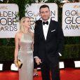 Naomi Watts et son mari nominé Liev Schieber lors des Golden Globe Awards au Beverly Hilton de Beverly Hills, Los Angeles, le 12 janvier 2014.