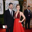 Amy Adams et Darren Le Gallo lors des Golden Globe Awards au Beverly Hilton de Beverly Hills, Los Angeles, le 12 janvier 2014.