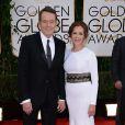 Bryan Cranston et Robin Dearden lors des Golden Globe Awards au Beverly Hilton de Beverly Hills, Los Angeles, le 12 janvier 2014.