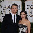 Channing Tatum et Jenna Dewan-Tatum lors des Golden Globe Awards au Beverly Hilton de Beverly Hills, Los Angeles, le 12 janvier 2014.