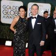 Matt Damon et sa femme Luciana Barroso lors des Golden Globe Awards au Beverly Hilton de Beverly Hills, Los Angeles, le 12 janvier 2014.