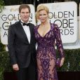 Carsten Maschmeyer, Veronica Ferres lors des Golden Globe Awards au Beverly Hilton de Beverly Hills, Los Angeles, le 12 janvier 2014.
