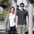 Jennifer Lawrence et Nicholas Hoult à Los Angeles le 14 février 2012.