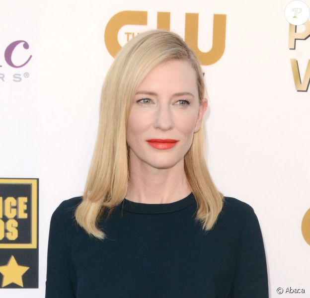 Cate Blanchett lors des Critics' Choice Movie Awards au Barker Hanger à Santa Monica, Los Angeles, le 16 janvier 2014